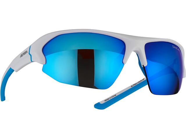 Alpina Lyron HR Glasses white matt-cyan
